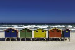 Cabanas em uma fileira Fotos de Stock
