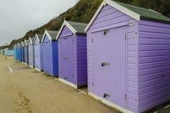 Cabanas em uma fileira Fotografia de Stock Royalty Free