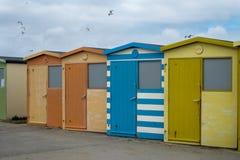 Cabanas em uma fileira Foto de Stock