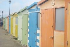 Cabanas em uma fileira Foto de Stock Royalty Free