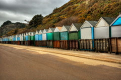 Cabanas HDR da praia Fotos de Stock Royalty Free