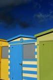 Cabanas inglesas da praia Fotos de Stock Royalty Free
