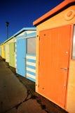 Cabanas inglesas da praia foto de stock royalty free