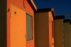 Cabanas inglesas da praia Fotos de Stock
