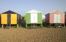 Cabanas kent whitstable Reino Unido Inglaterra da praia imagens de stock