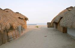 Cabanas at Lagunas de Chacagua Stock Image