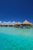 Cabanas na água Fotos de Stock Royalty Free