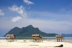 Cabanas nativas em Stilts Imagens de Stock