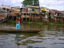 Cabanas pelo rio Fotos de Stock