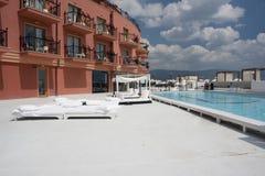 cabanas poolside σαλονιών Στοκ Εικόνες