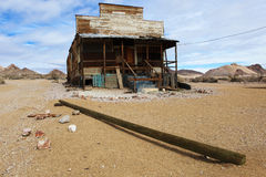 Cabane de désert à la rhyolite, Nevada Images stock