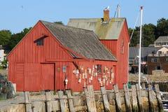 Cabane de homard dans Rockport, mA Photographie stock libre de droits