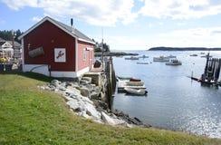 Cabane de homard par la côte de Maine Photographie stock libre de droits