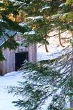 Cabane de l'hiver Photo libre de droits