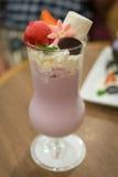 Cabane de lait de crème glacée de dessert Photo stock