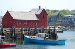 Cabane de pêche de Rockport Photo libre de droits