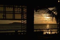 Cabane de plage, Goa Photos stock