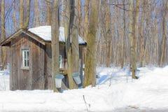 Cabane de sucre du Canada Photographie stock