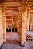 Cabane en rondins, cadre en bois Photo libre de droits
