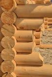 Cabane en rondins, cadre en bois Photographie stock