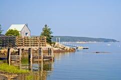Cabane et pilier de pêche Photo libre de droits