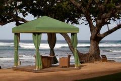 Cabane sur la plage Photographie stock