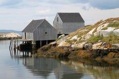 Cabanes de pêche de la crique de Peggy Photos libres de droits
