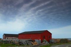 Cabanes de pêcheur Photo stock
