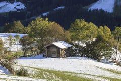Cabanes en bois Photographie stock