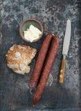 Cabanossi-Mittagessen Lizenzfreie Stockbilder