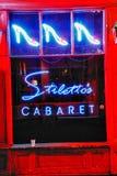 Cabaré do estilete da rua de Nova Orleães Bourbon imagem de stock