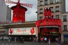 Cabaré do vermelho de Moulin fotografia de stock