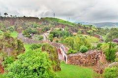 CABARCENO HISZPANIA, LIPIEC, - 5, 2016: Widok Parque De Los angeles Naturalny Obrazy Stock