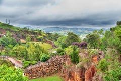 CABARCENO HISZPANIA, LIPIEC, - 5, 2016: Widok Parque De Los angeles Naturalny Fotografia Stock