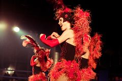 cabaret σύνολο Στοκ Εικόνες