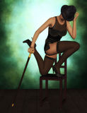 Cabaret dancer 3D rendered Stock Photos