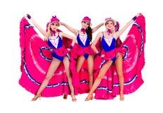 Cabaret dancer girls dressed in vintage costumes Stock Image