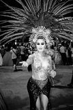 Cabaret Dancer Royalty Free Stock Photography