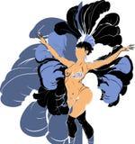 Cabaret dancer Royalty Free Stock Images