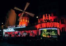 Cabaret del colorete de Moulin Imagen de archivo libre de regalías