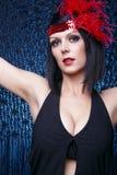 Cabaret Flapper Lady Stock Photography