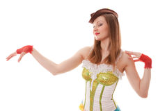 Cabaret girl Stock Image