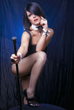 Cabaret Lady Ready For Show Stock Photos