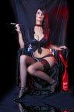 Cabaret Lady Smoking Royalty Free Stock Photos
