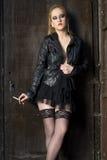 CABARET LADY SMOKING Stock Photos