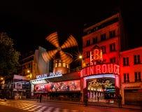 Cabaret Moulin Rouge at Night, Paris Royalty Free Stock Image