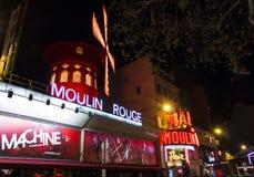 The cabaret Moulin Rouge, Paris; France. Stock Photo