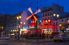 The cabaret Moulin Rouge, Paris, France. Royalty Free Stock Images