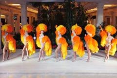 Cabaret parisien célèbre le Moulin rouge Image libre de droits