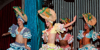 Cabaret Parisien in Havana. Cuba (performance of the second - after Tropicana - famous cabaret in Havana stock photos
